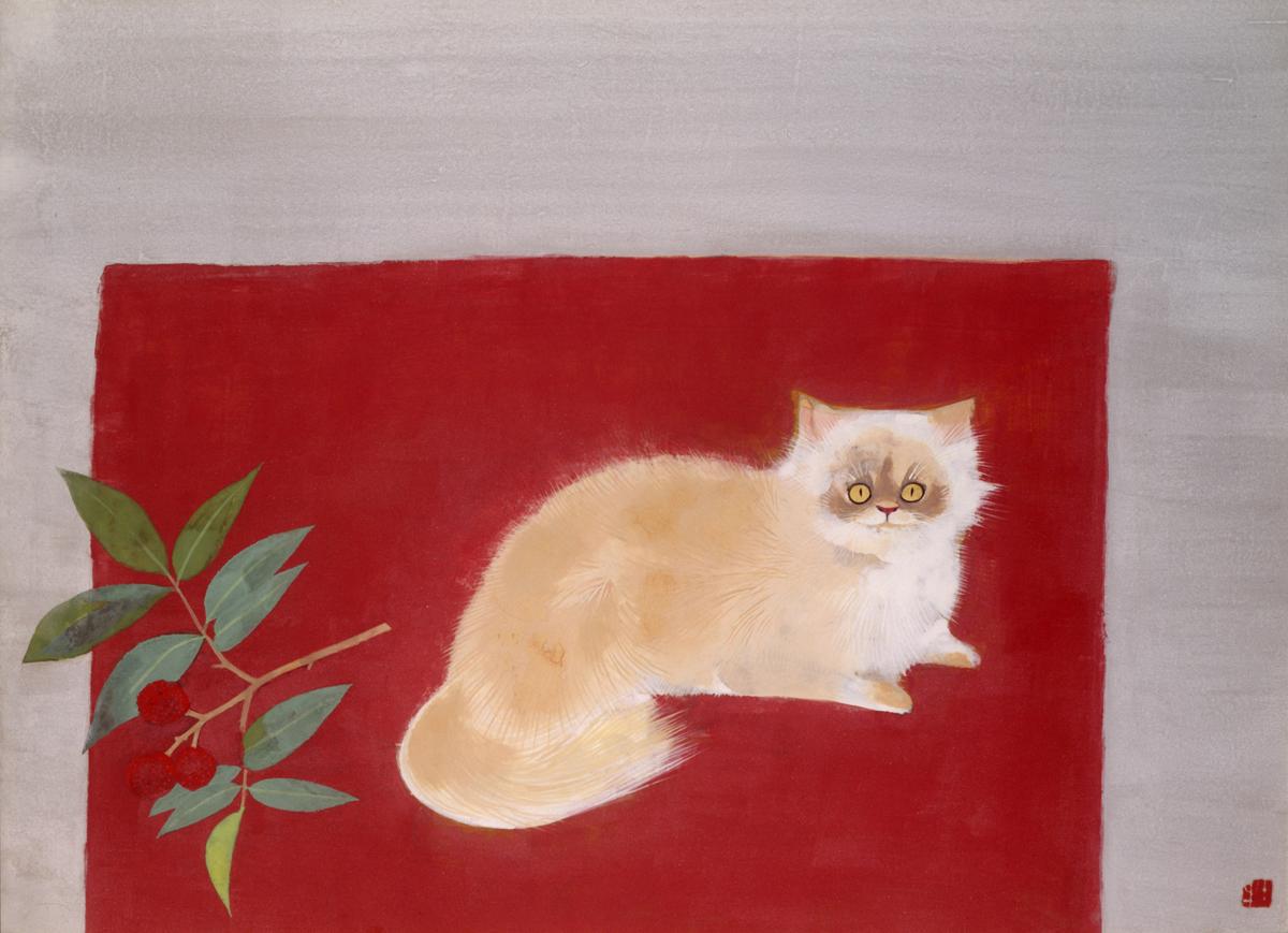 奥村土牛《醍醐》1972(昭和47)年 紙本・彩色 山種美術館